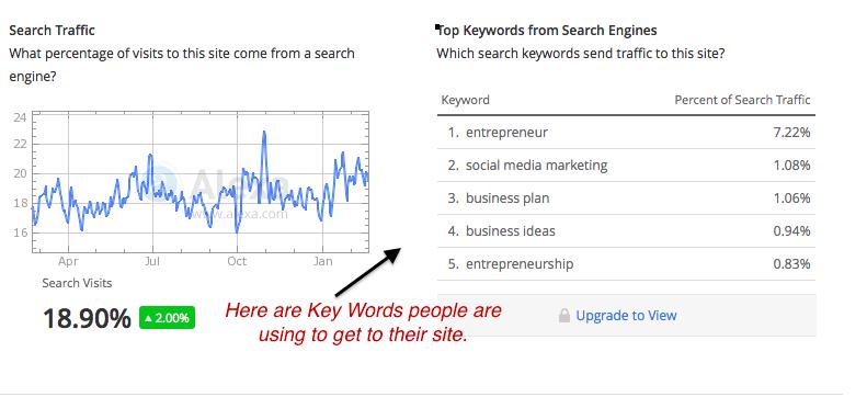 Key Words Search Traffic Entreprenuer